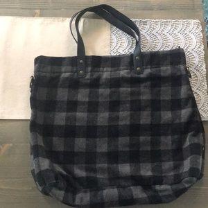 Target large plaid flannel tote purse